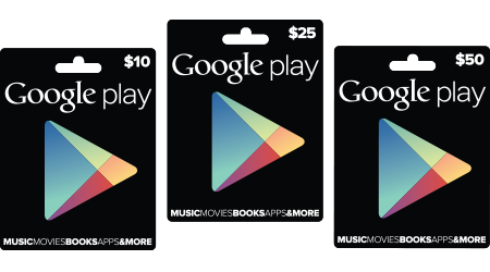 Google Play Store Gift Cards