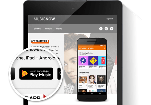 Google Play Music badge – Google