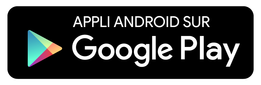 Appli Android disponible sur Google Play